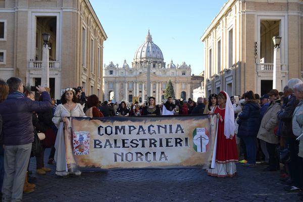 Balestrieri Norcia a Roma befana